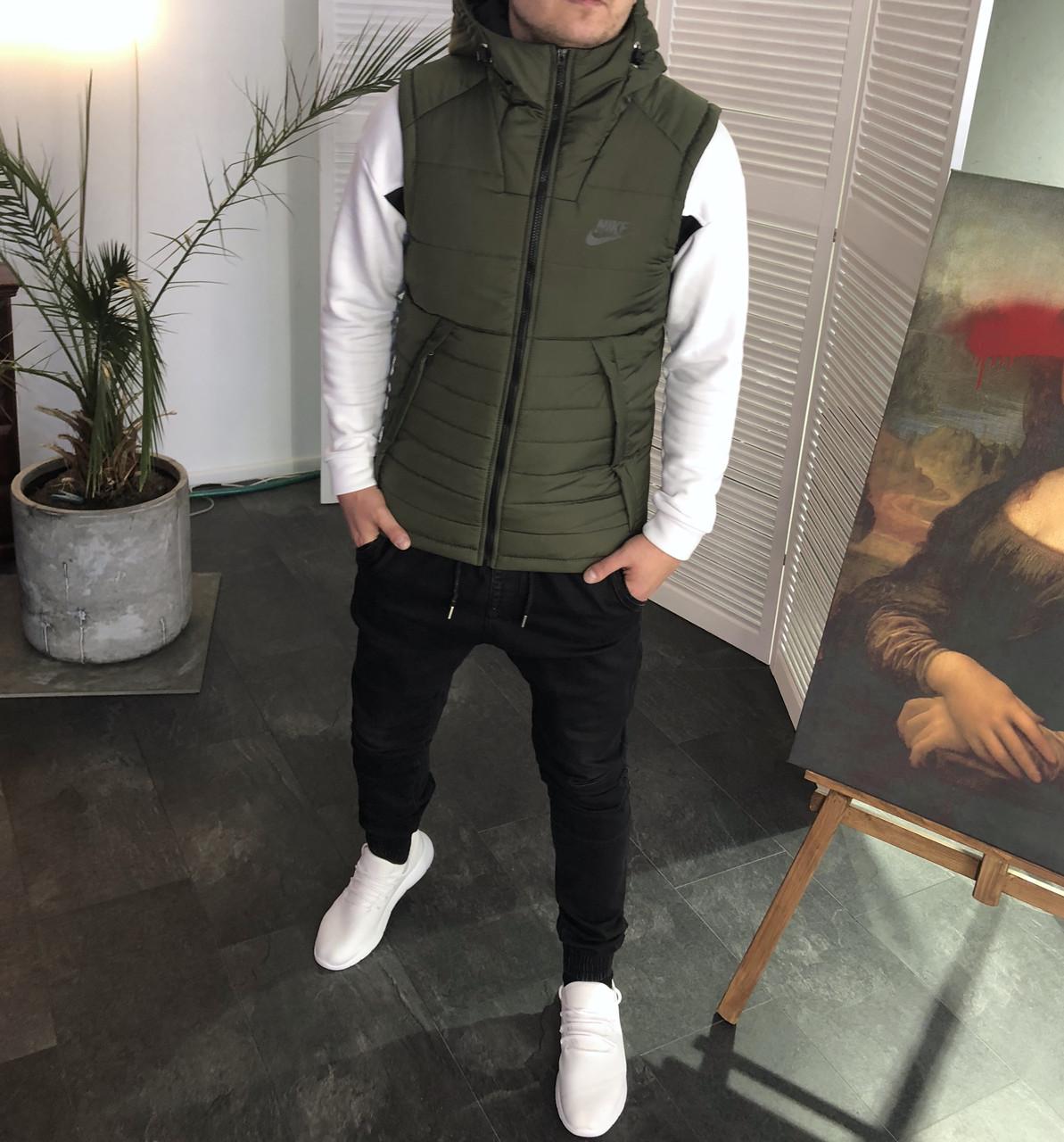 Мужская жилетка Nike хаки