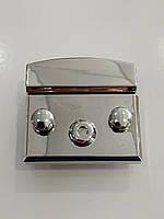 Замок для сумки (с защелкой на кнопках) ZM18-1, цвет никель
