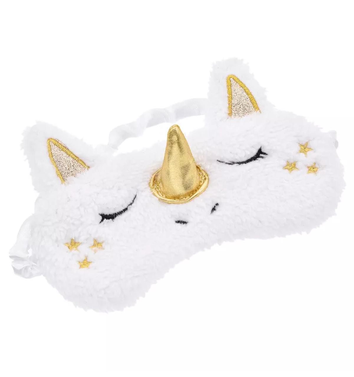 Удобная мягкая маска для сна—повязка на глаза милая Единорог для девочек и девушек