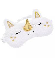 Удобная мягкая маска для сна—повязка на глаза милая Единорог для девочек и девушек, фото 1