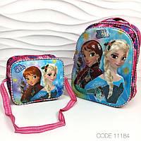 Рюкзак школьный для девочки 3D Frozen портфель для школы школы ортопедический 11184