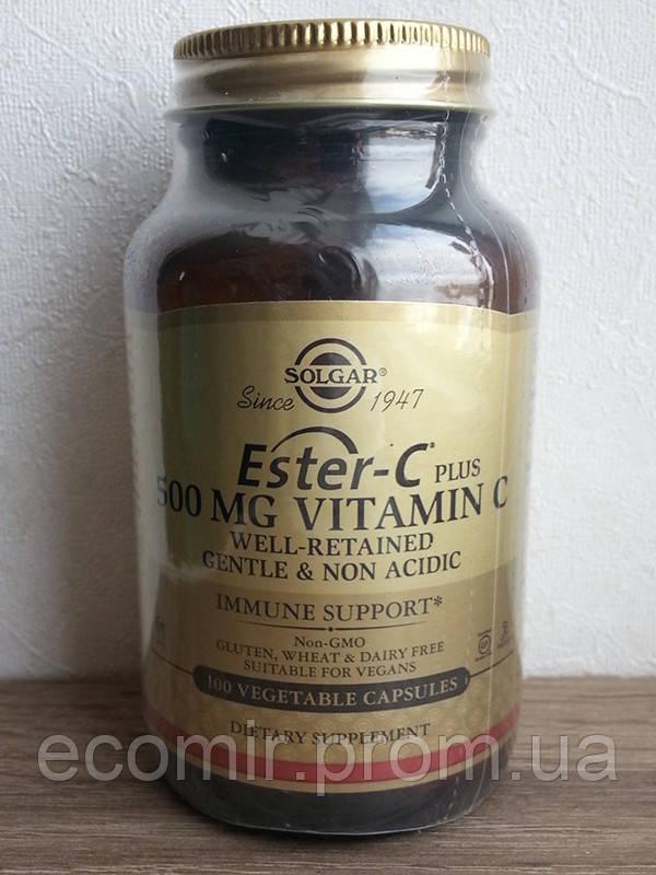 Эстер-С Плюс, Солгар (500 мг/ 100 капсул)