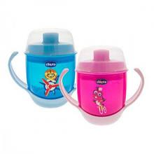 Чашка-непроливайка Chicco - Meal Cup (06824.12) 180 мл, 12 мес.+, голубой или розовый