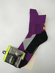 Носки баскетбольные взрослые фиолетово-черные