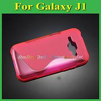Чехол накладка бампер для Samsung Galaxy J1 J100h розовый