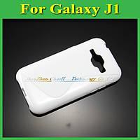 Чехол накладка бампер для Samsung Galaxy J1 J100h белый