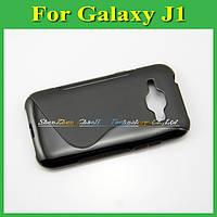 Чехол накладка бампер для Samsung Galaxy J1 J100h черный
