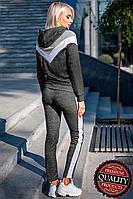 Женский спортивный костюм с лампасами (Весна/Осень) | Жіночий спортивний костюм з лампасами (Серый)