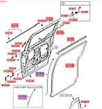 Уплотнитель раздвижной двери правой передний, KIA Carnival 2005-2006 VQ, 831654d000, фото 3