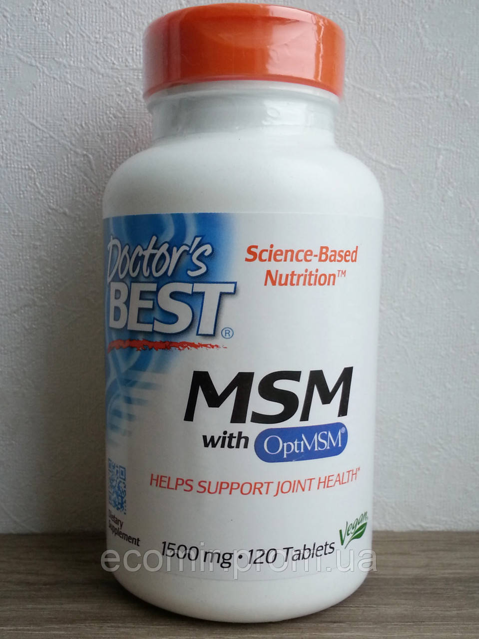 Сера (MSM with OptiMSM),Doctor's Best (1500 мг / 120 таблеток)