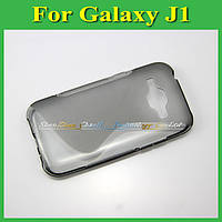 Чехол накладка бампер для Samsung Galaxy J1 J100h серый
