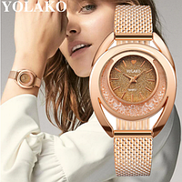Стильные модные оригинальные женские часы YOLAKO