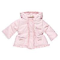 Нежная Куртка Для Новорожденных Девочек Розовая С Бантиками И Рюшами Brums  Италия 0bb110eb675b7