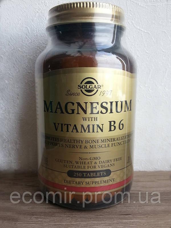 Магний B6, Солгар (250 таблеток)