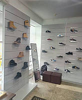 Оборудование для магазина обуви. Эконом-панели для обуви