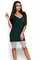 M-L | Вільне жіноче темно-зелене плаття з гіпюром Nizza