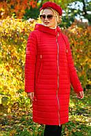 Яркое пальто прямого кроя