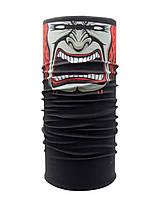 Бафф унисекс универсальный «Buff» черный с красным клоуном