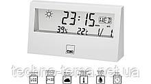 Метеостанция с часами CLATRONIC WSU 7022 white