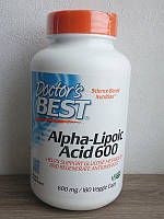 Альфа-липоевая кислота, Doctor's Best (600 мг / 180 капсул)