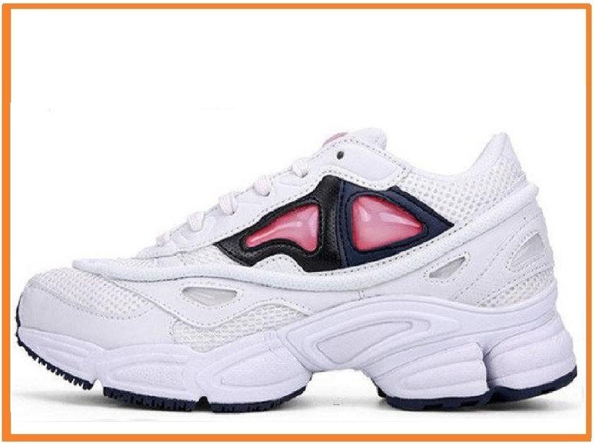 404a4ca4b8fd Женские кроссовки Raf Simons x Adidas Consortium Ozweego 2 White Bold  Orange (адидас раф симонс