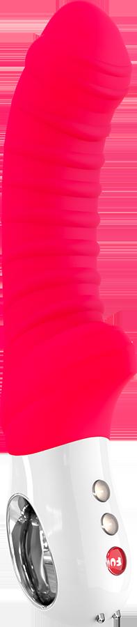 Вибратор со стимуляцией клитора Tiger G5 Fun Factory красный