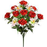 Букет роз с орхидеей, 54см (8 шт. в уп), фото 2
