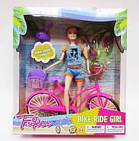 Кукла с велосипедом и аксессуарами