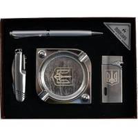 Подарочный набор Moongrass Пепельница, зажигалка, ручка, нож AL118