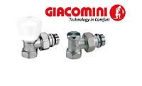 Кран радиаторный Giacomini 1/2 угловой (КОМПЛЕКТ Верх+Низ)