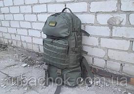 Тактичний туристичний міцний рюкзак-трансформер 40-60 літрів олива. Нейлон 1000 Den.