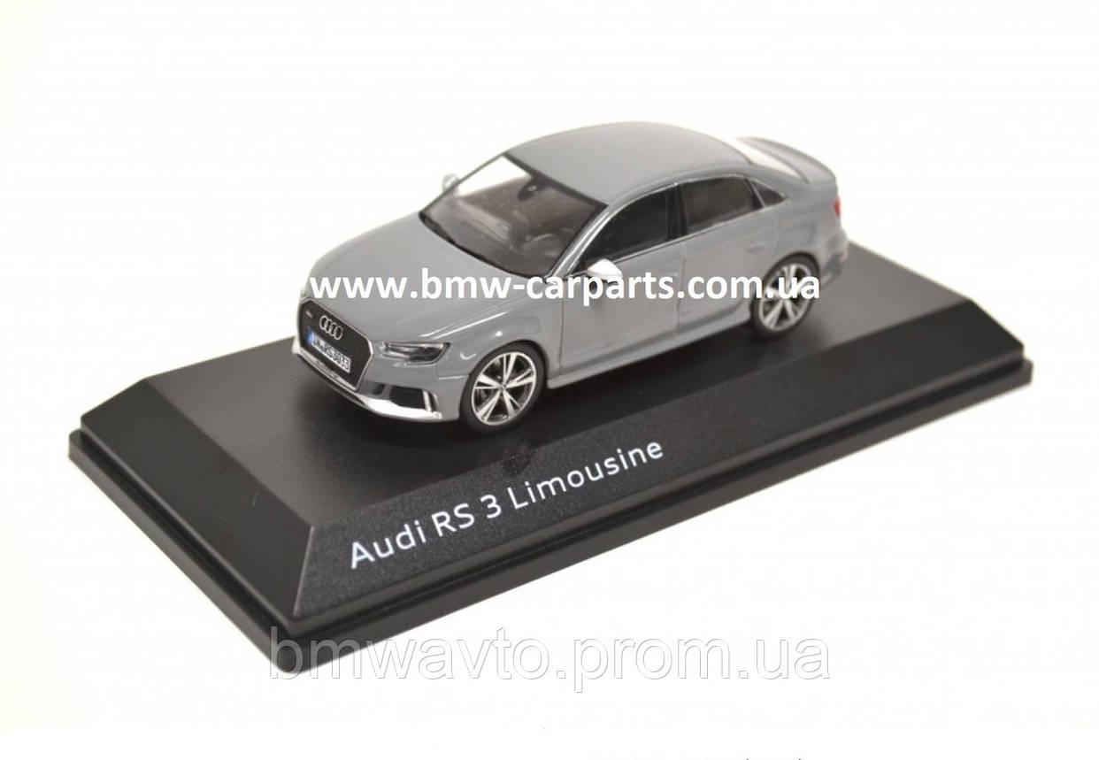 Модель автомобиля Audi RS 3 Sedan, Nardo Grey, Scale 1:43, фото 2