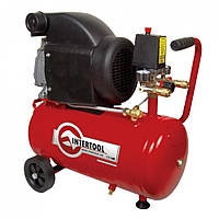 Компрессор Intertool 24л, 2HP, 1.5кВт, 220В, 8атм, 206л/мин (PT-0010)