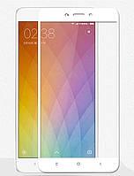 Защитное стекло 5D (Full glue ) Xiaomi Redmi 4X (White)