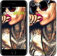 "Чехол на iPhone 8 Девушка в тату ""4001c-1031-19383"""