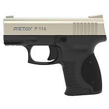 Сигнальний пістолет, стартовий Retay P114 (9мм, 6 зарядів), сатин