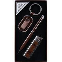 Подарочный набор Moongrass Брелок, ручка, зажигалка AL607