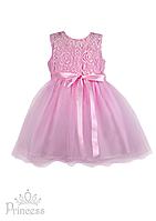 Нежное платье для девочки с лентой-бантиком, фото 1