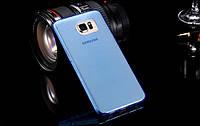 TPU чехол для Samsung Galaxy S6 голубой, фото 1