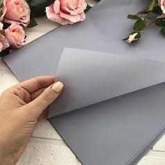 Калька для упаковки цветов однотонная пепельная (светло-серая) непрозрачная 60*60 см, 20 листов