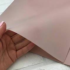 Калька для упаковки цветов однотонная пюсовая (бледно-розовая) 60*60 см, 20 листов