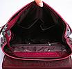 Рюкзак сумка женский трансформер городской Manufactur Бордовый, фото 4