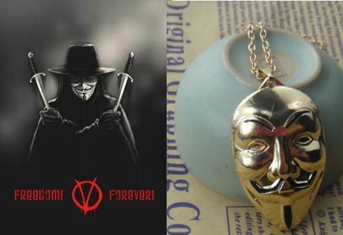 Кулон у вигляді маски великого Гая Фокса
