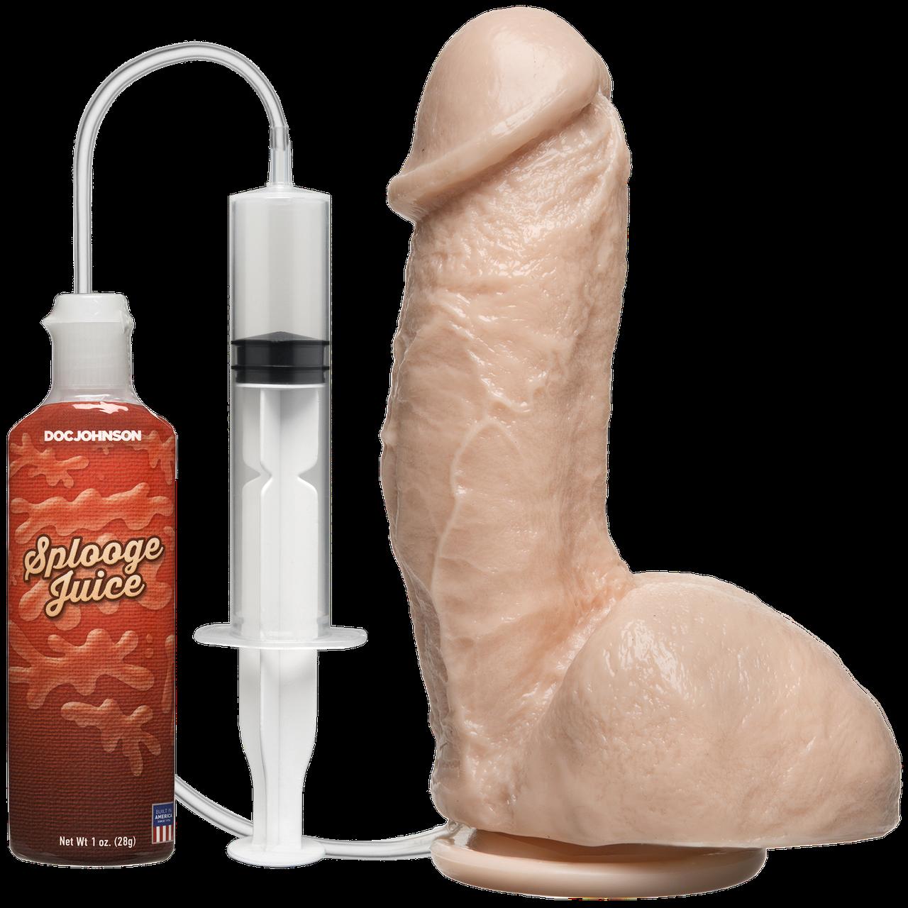 Кончающий фаллоимитатор Doc Johnson The Amazing Squirting Realistic Cock