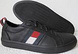 Tommy Hilfiger кожаные белые кеды! Туфли мужские кроссовки в стиле Томми Хилфигер, фото 9