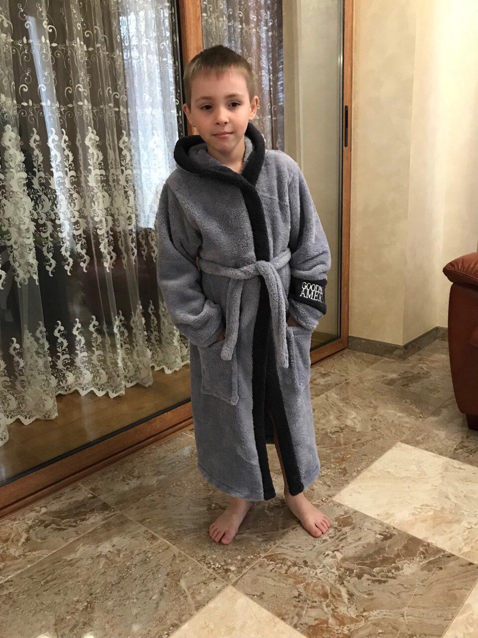 Дитячий махровий халат для хлопчика
