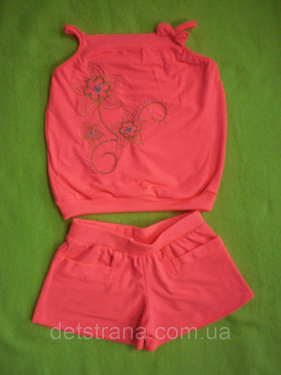 Летний костюм для девочки майка и шорты