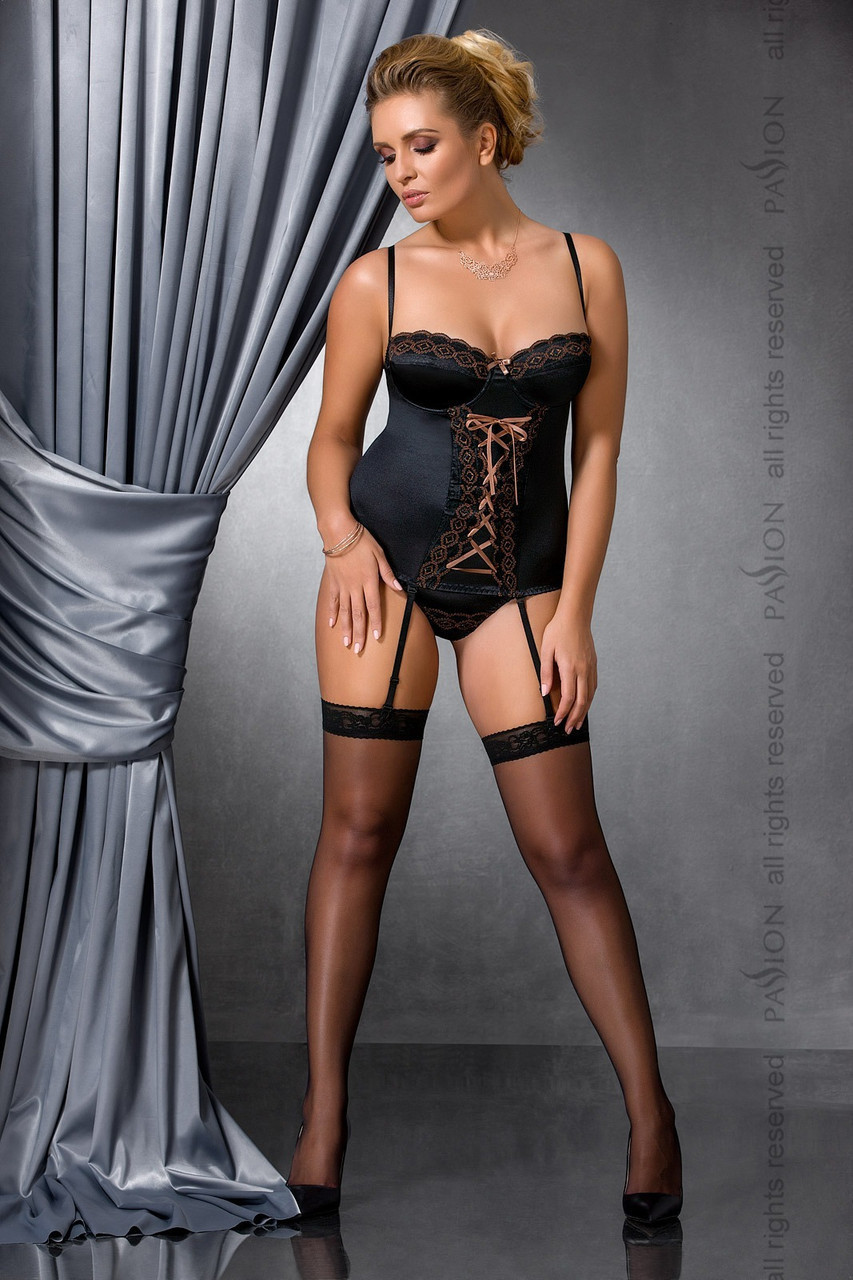 EVANE CORSET black 6XL/7XL - Passion