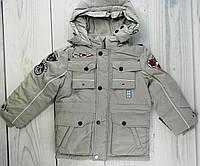 Куртка Демисезонная для мальчиков Серый Полиэстер/Хлопок Baby Line Украина
