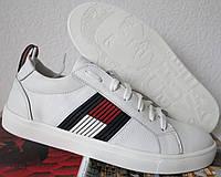 Tommy Hilfiger кожаные белые кеды! Туфли мужские кроссовки в стиле Томми  Хилфигер 0aa4f26483a5d